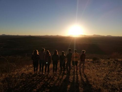 Wir 8 Freiwillige aus Windhuk